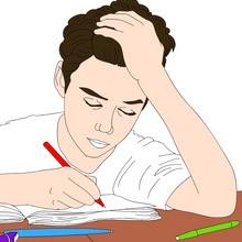 Dibujos para colorear MAESTROS y ALUMNOS a la escuela