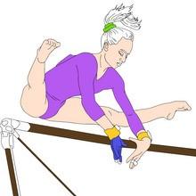 olimpiadas, Dibujos de GIMNASIA para colorear gratis