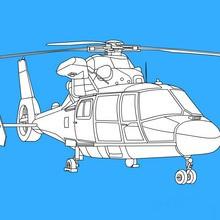 Dibujos para colorear HELICOPTEROS
