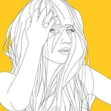 famoso, Dibujos de LADY GAGA para colorear