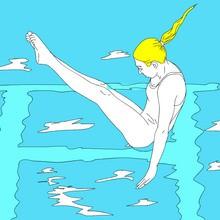 juegos olimpicos, Dibujos de NATACION para colorear