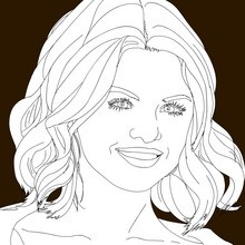 famoso, Dibujos de SELENA GOMEZ para colorear