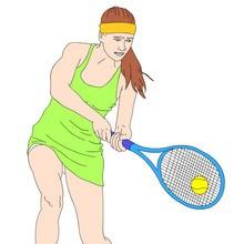 juegos olimpicos, Dibujos de TENIS para colorear