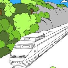 ferrocarril, Dibujos para colorear los TRENES