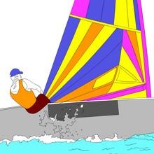 juegos olimpicos, Dibujo para colorear los DEPORTES ACUATICOS