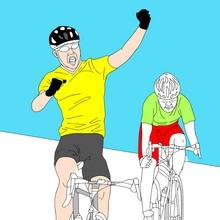juegos olimpicos, Dibujos de CICLISMO para colorear