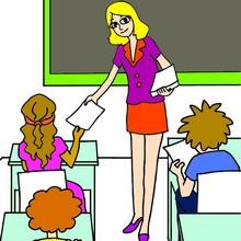 Dibujos para colorear CLASES