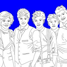 Dibujos de ONE DIRECTION para colorear