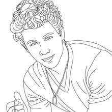 Dibujos de jonas brothers para colorear imprimir y for Jonas coloring pages