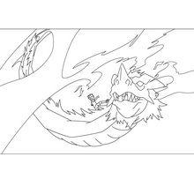 Dibujo para colorear : Dragón INAZUMA ELEVEN