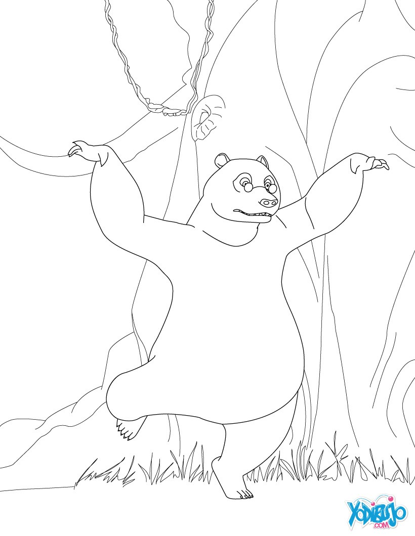 Dibujos para colorear baloo el oso - es.hellokids.com