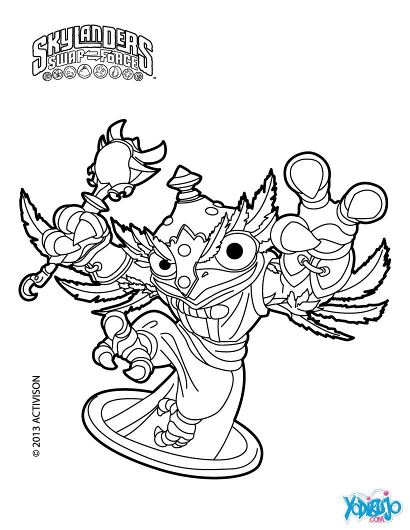 Dorable Skylanders Para Colorear Libros Patrón - Dibujos Para ...
