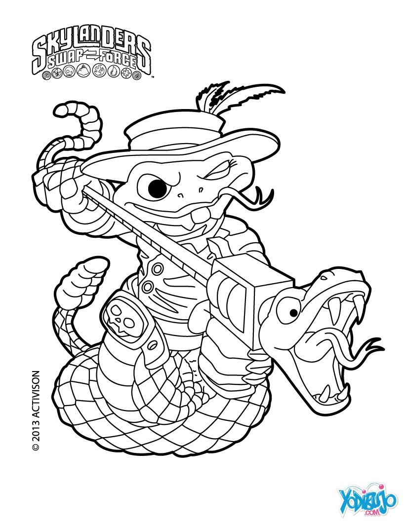 Excelente Página Para Colorear De Skylander Festooning - Dibujos ...