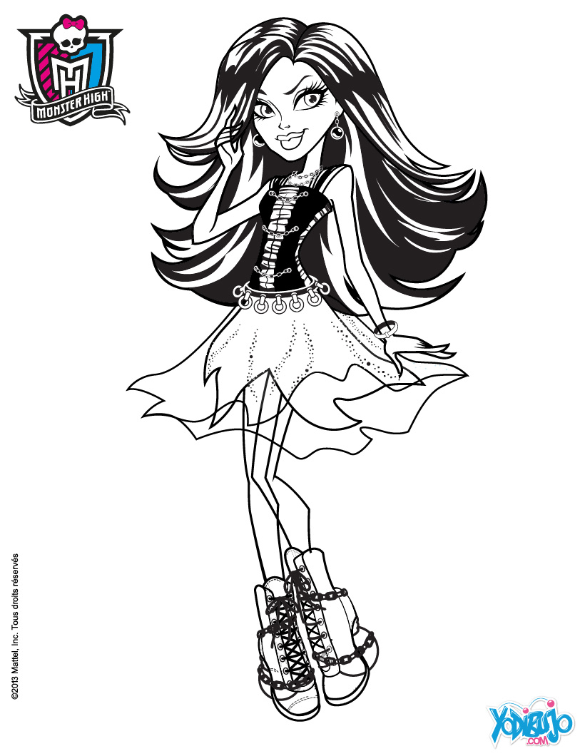 Dibujos MONSTER HIGH para colorear - Muñeca Spectra Vondergeist