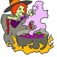 Halloween, Dibujos de Brujas para colorear