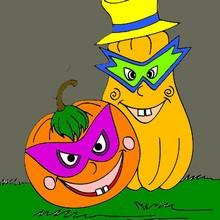 Halloween, Dibujos de Calabaza para colorear