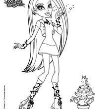 Dibujo para colorear : Venus Mc Flytrap con su mascota