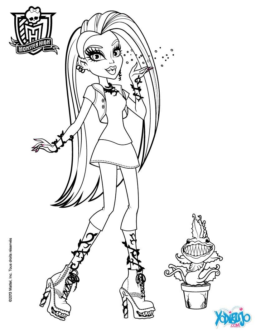 Dibujos Para Colorear Venus Mc Flytrap Con Su Mascota Es