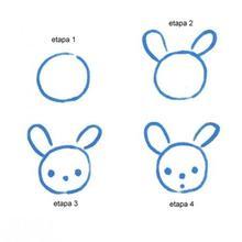 Aprender a dibujar : Conejo en 4 etapas