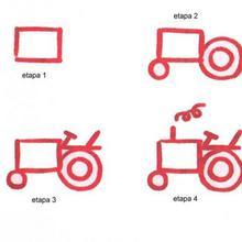 Aprender a dibujar : Tractor