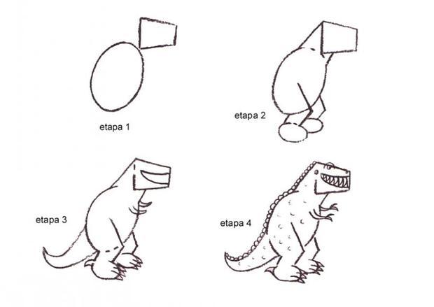 Aprender A Dibujar Tiranosaurio Rex Es Hellokids Com ¡juega en la prehistoria, controla un hombre de las cavernas, y vete de aventuras dino en uno de nuestros muchos juegos de ¡nuestros juegos de dinosaurios brindan entretenimiento con criaturas de hace millones de años! hellokids