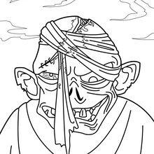 Dibujo para colorear : Cabeza de zombí