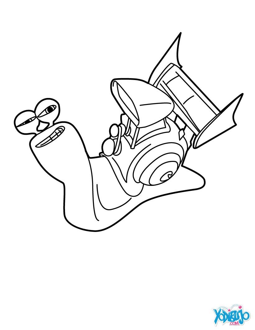 Dibujos TURBO para colorear - 7 imagenes para pintar el caracol
