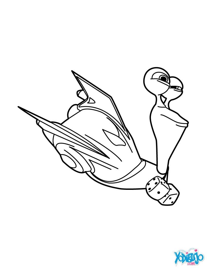 Dibujos para colorear turbo el caracol - es.hellokids.com