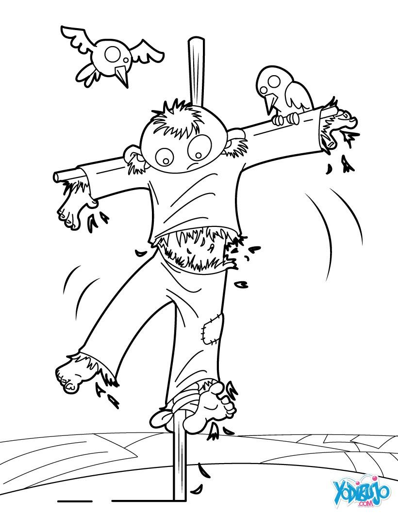 Dibujos para colorear ESPANTAPAJAROS HALLOWEEN - 8 dibujos de ...
