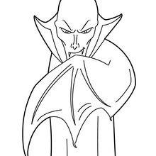 Dibujo para colorear : Vámpiro Dracula