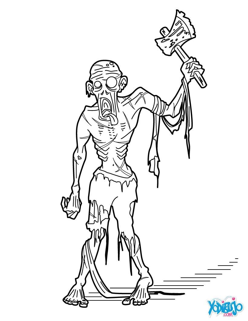 Dibujos para colorear zombí enbrujada - es.hellokids.com