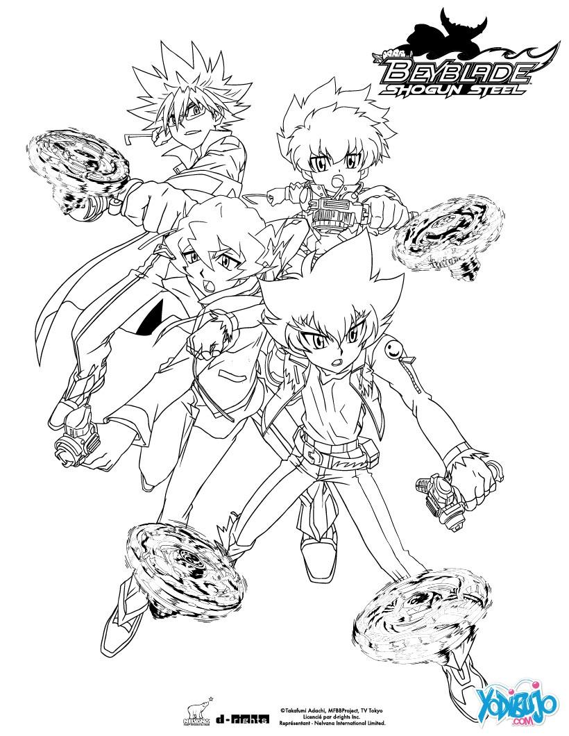 Dibujos para colorear team beyblade - es.hellokids.com