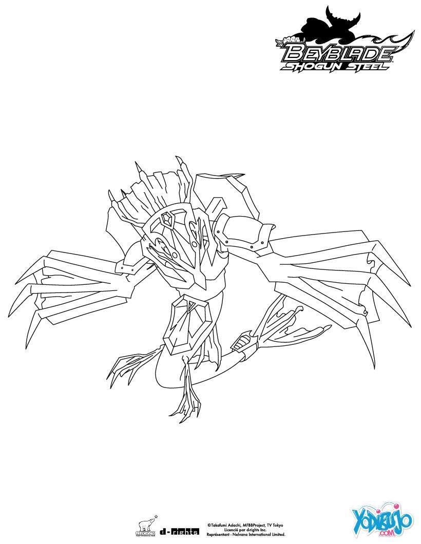 Dibujos para colorear BEYBLADE - 26 laminas de peonzas Beyblade para ...