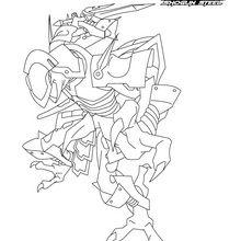 Dibujo para colorear : Ninja Salamander