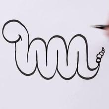 Dessiner un serpent avec la lettre M