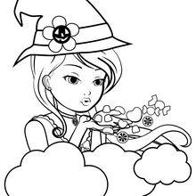 Dibujo para colorear : Muñeca Nancy con chuches