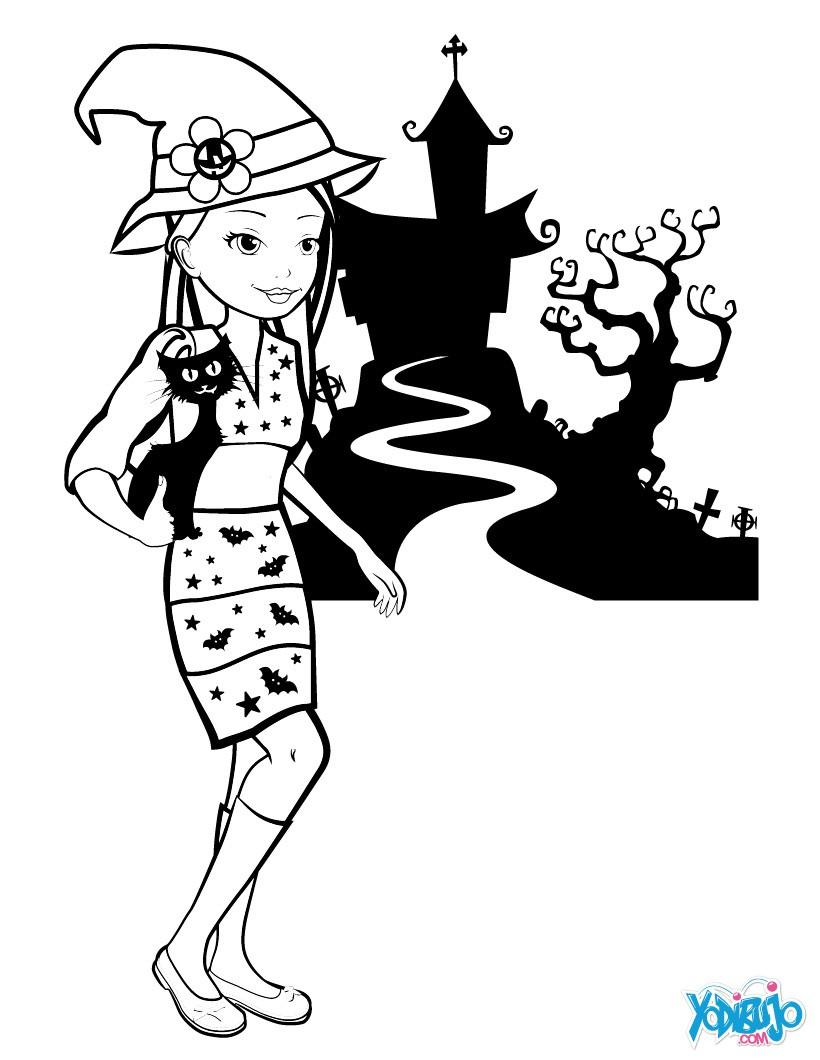 Dibujos para colorear muÑecas - es.hellokids.com