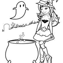Dibujo para colorear : Nancy y la pócima mágica