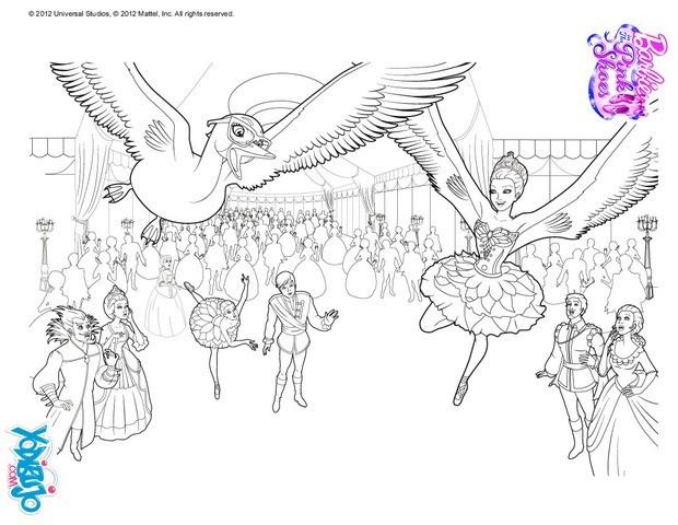 Dibujos para colorear bailarinas vuelan como cisnes  eshellokidscom