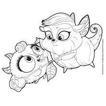 Dibujo para colorear : las Mascotas Zee y Anu