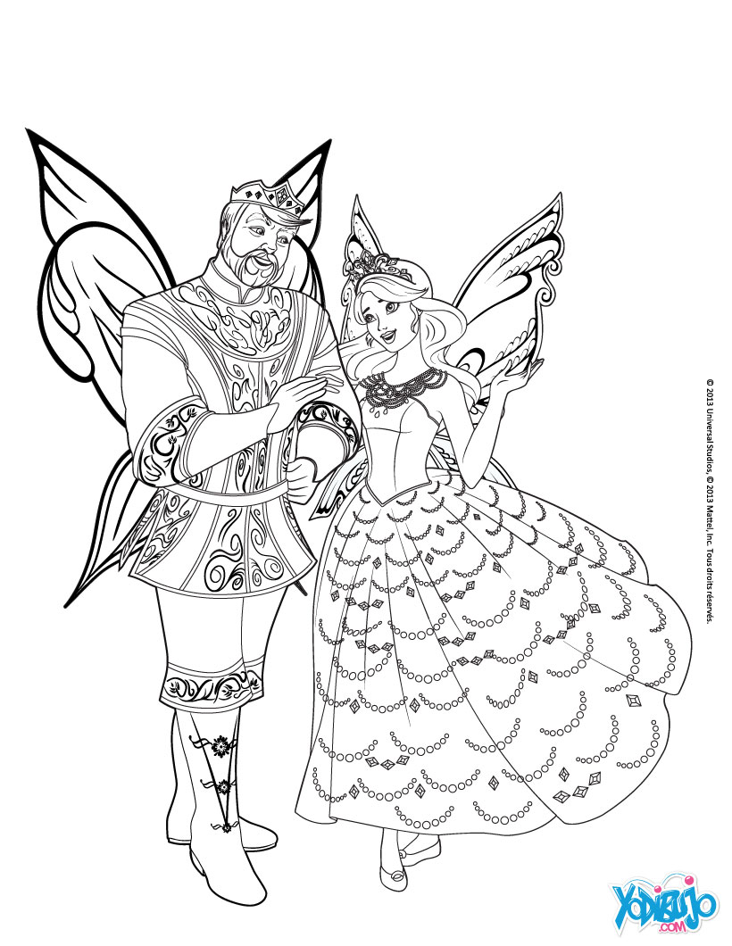 Dibujos para colorear la princesa catania y el rey regellius - es ...