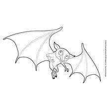 Dibujo para colorear : el murciélago de Henna