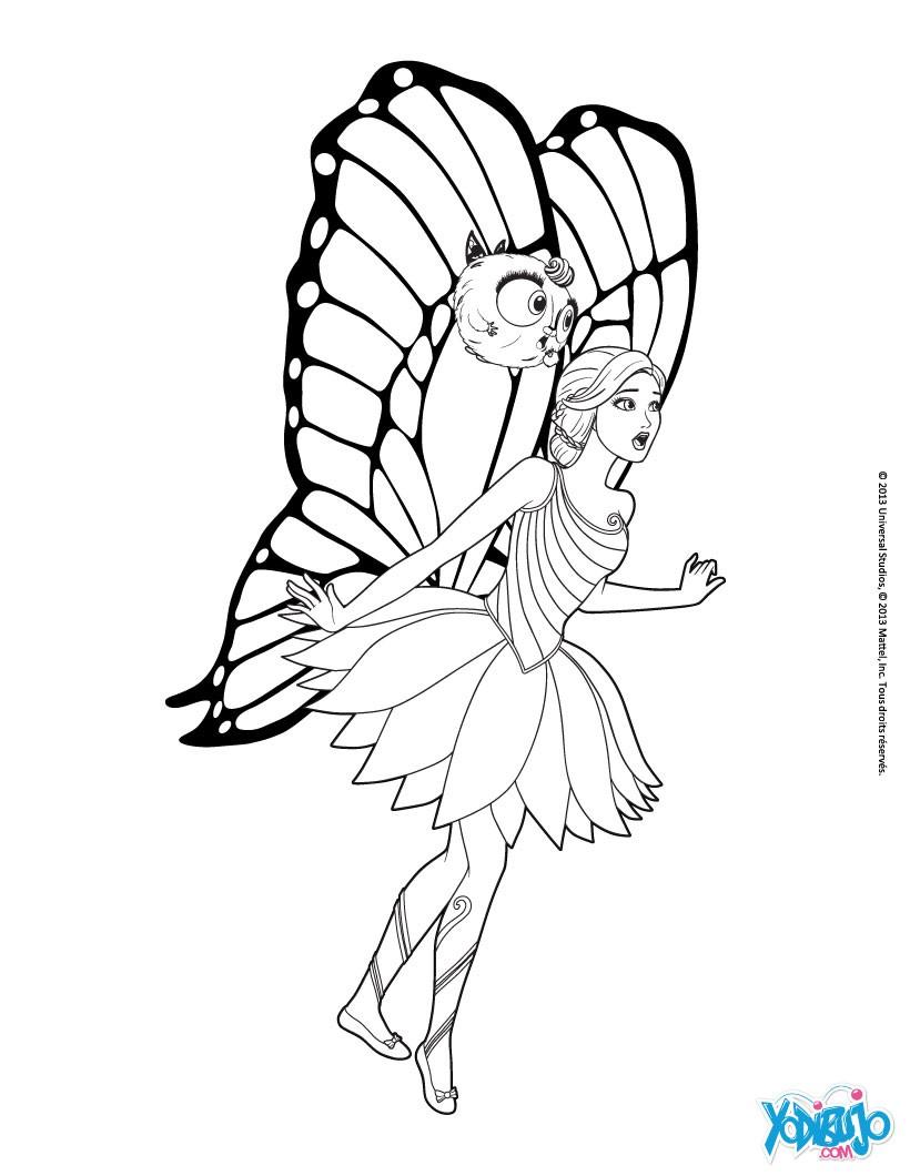 Dibujos de BARBIE Mariposa y la princesa de las Hadas - 20 ...