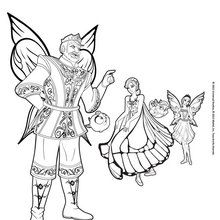 Dibujo para colorear : El rey Regellius y las hadas