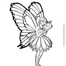 Dibujo para colorear : Mariposa con Zee