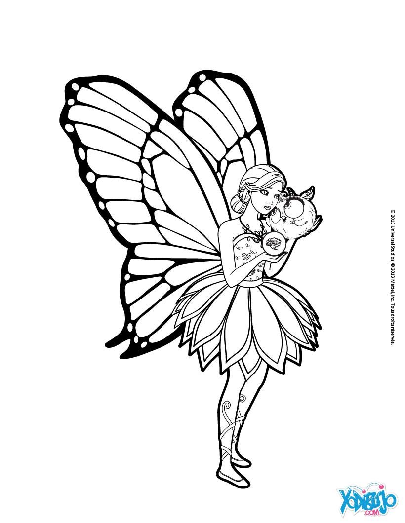 Dibujos para colorear mariposa con zee - es.hellokids.com