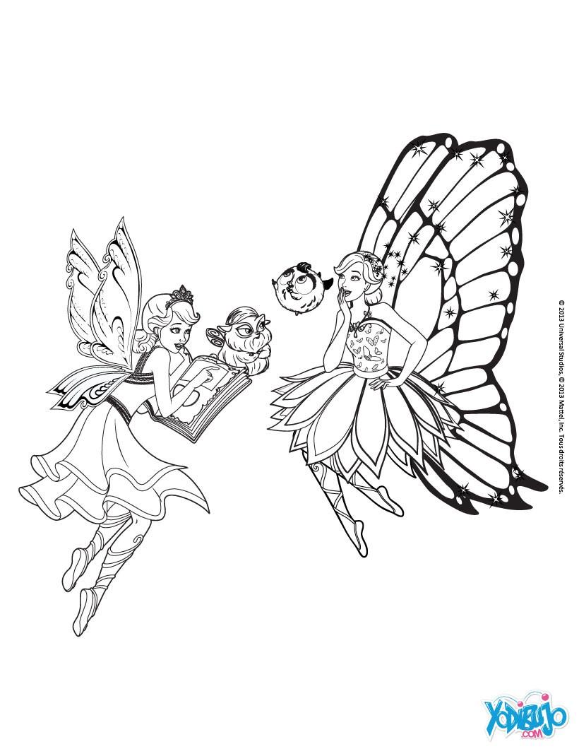 Dibujos para colorear catania, mariposa y sus mascotas - es ...