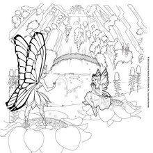 Dibujo para colorear : El Reino de Flutterfield