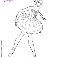 Dibujo para colorear : Bailarina estrella del ballet Giselle
