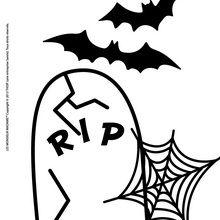 Dibujo para colorear : Halloween con los Mr Men y Little Miss
